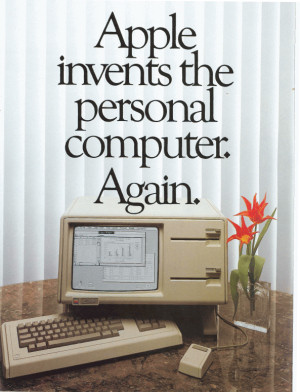 The first attempt at a Macintosh: Apple's 're-invented' Lisa, model 1 (1983) [Photo credit: ComputerHistory.org]