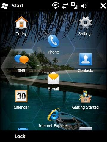Windows Mobile 6.5 home