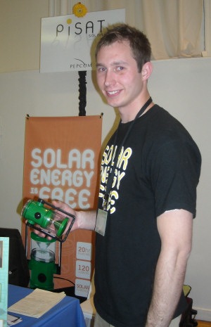 PiSAT's solar-powered 'green' lantern