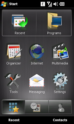 Sony Ericsson Xperia X2 Windows Mobile 6.5 interface