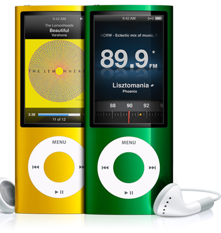 New ipod Nano with FM radio, camera