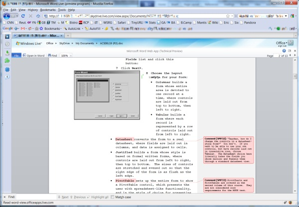 Inside Office Web Apps: Will Word Web App hold a candle to Word 2010?