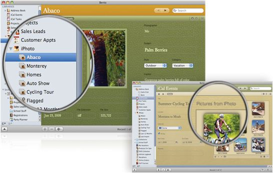 Bento 3 for Mac from Apple's FileMaker division
