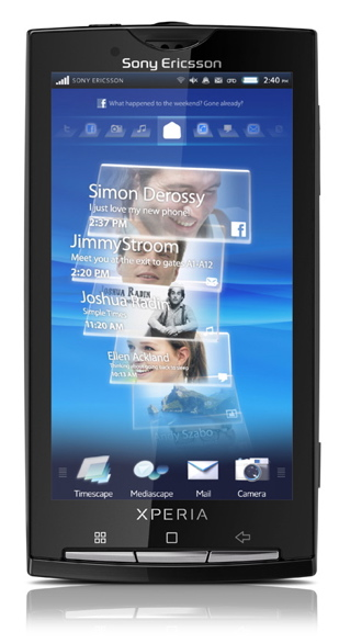 Sony Ericsson Xperia X10 android, rachael, UX