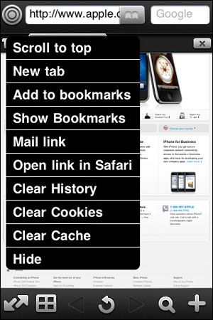 Full Browser app for iPhone
