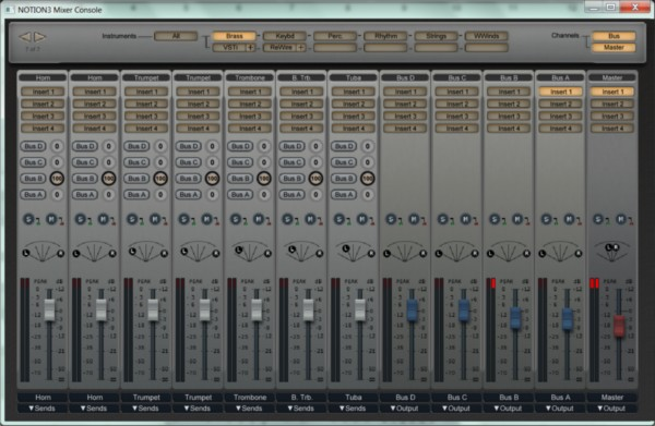 The new audio mixer system in Notion 3