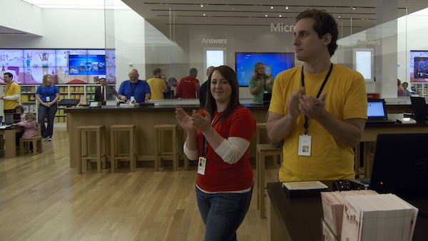 Microsoft Store Employees Clap
