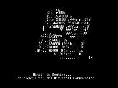 MinWin boot screen