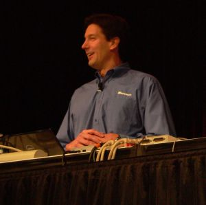 Microsoft Technical Fellow Dr. Mark Russinovich at PDC 2009.