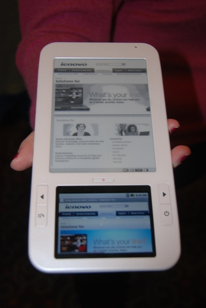 Spring Design's Alex E-Reader - shown by Marvell