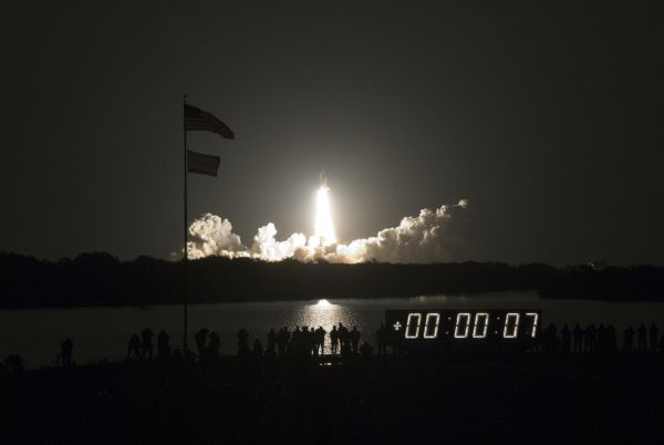 Liftoff of Space Shuttle STS-130, perhaps the final nighttime liftoff in the shuttle program's history.  [Courtesy: NASA]