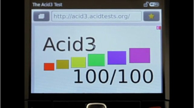 A BlackBerry browser with a 100% Acid3 score: RIM finally picks up the Torch