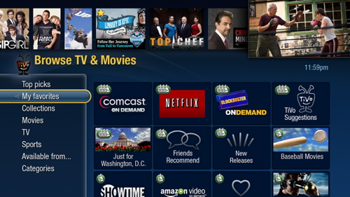 TiVo HD ---My Favorites