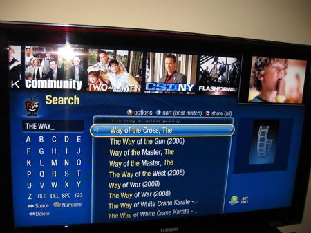 TiVo Premiere search