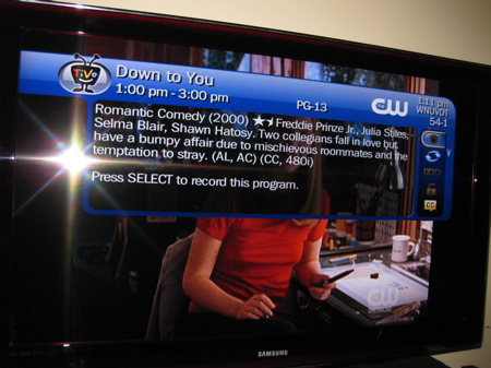TiVo over live TV (SD)