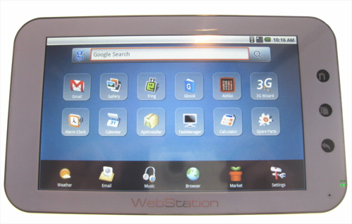 Hands-on with the WebStation Android Tablet