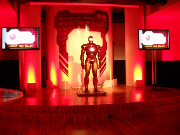 Iron Man 2 was on hand for the launch of LG's Ally Android phone.