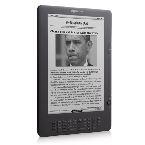 Amazon unveils higher contrast, lower cost Kindle DX