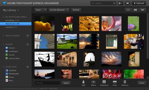 Photoshop Express Organizer