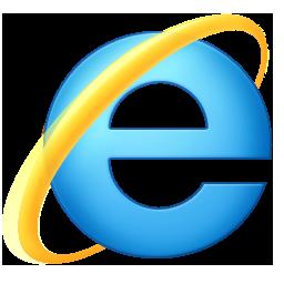 Microsoft Internet Explorer 9 logo ('e')