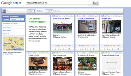 Google marries Profiles and Places with new recommendation service, HotPot