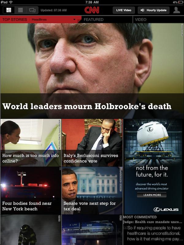 CNN iPad app