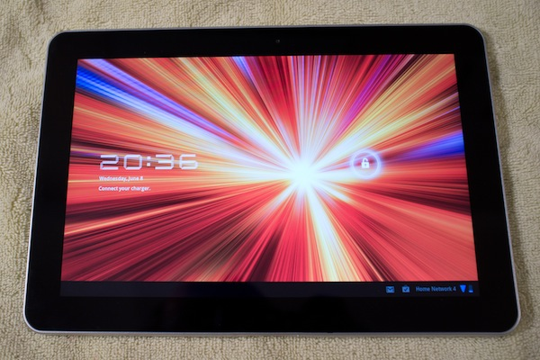 Galaxy Tab 10.1 lock screen