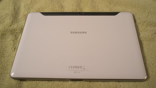 Galaxy Tab 10.1 back