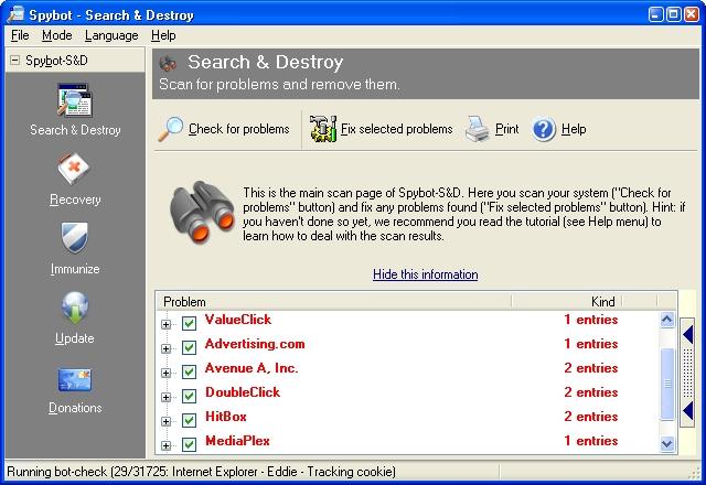 Spybot - Seach & destroy