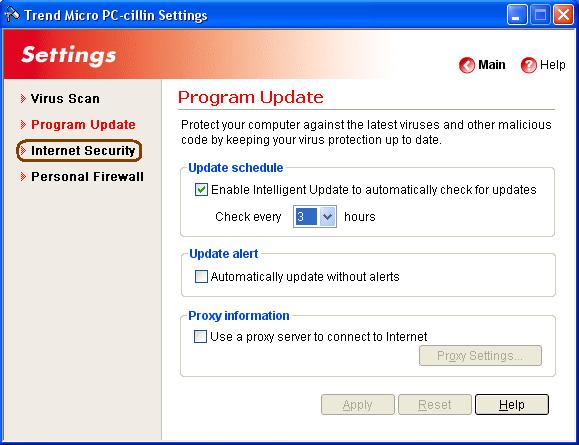 Trend Micro PC-cillin Internet Security