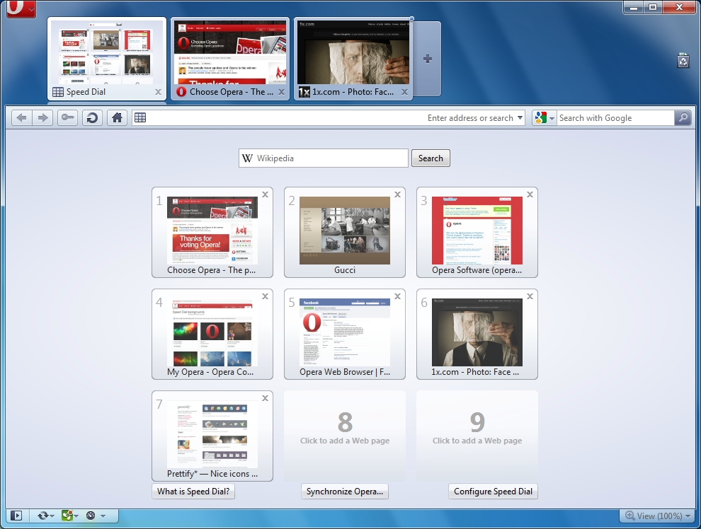 Opera for Mac full screenshot