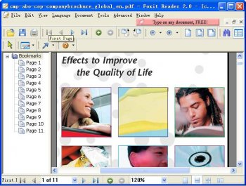 Foxit PDF Reader 2.0 beta build 0609[更新]