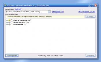 Windows Updates Downloader 2.30 Beta Build 980