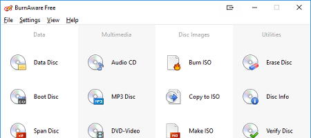 Screenshot of New: BurnAware 11.7