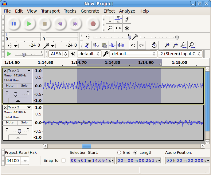 Audacity for Linux