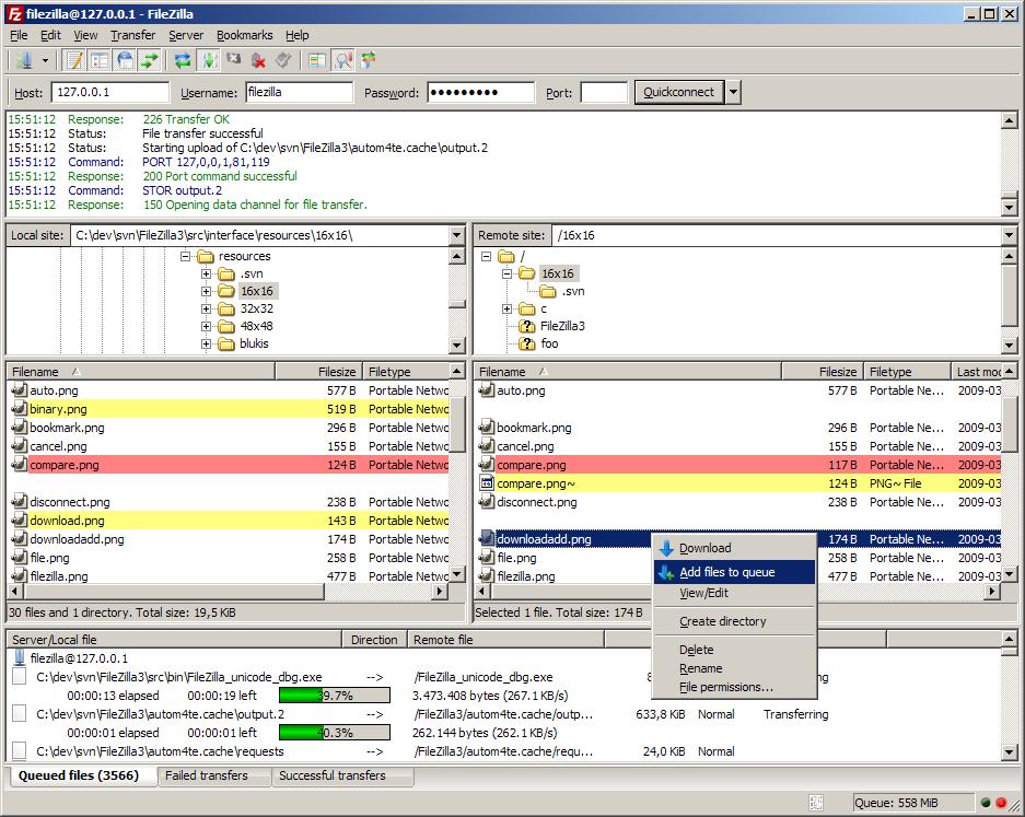 FileZilla v3 for Windows