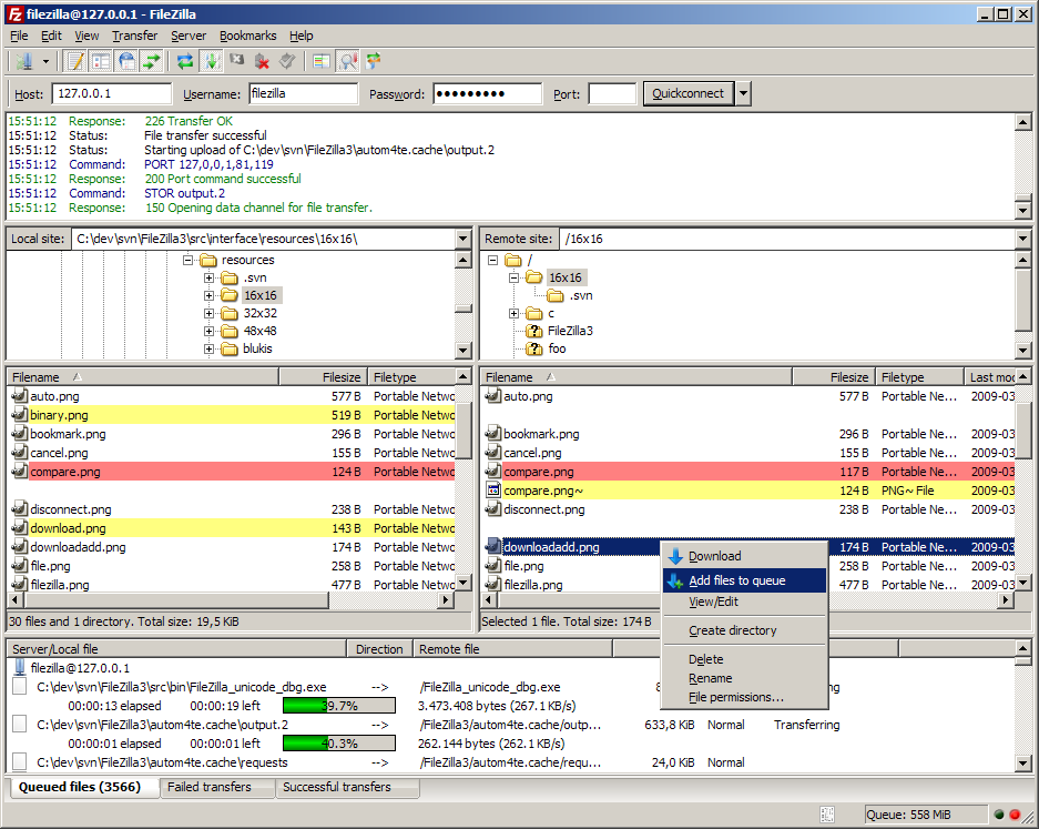 FileZilla v3 for Windows (64-bit)