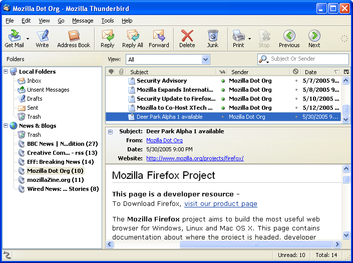 Mozilla Thunderbird for Windows