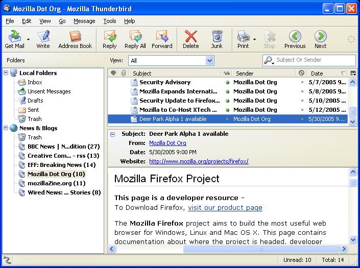 Mozilla Thunderbird (Beta)