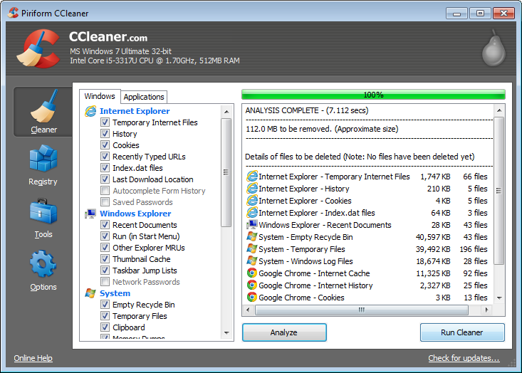 ccleaner gratis in italiano