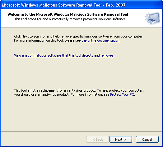 Microsoft Malicious Software Removal Tool (x64)