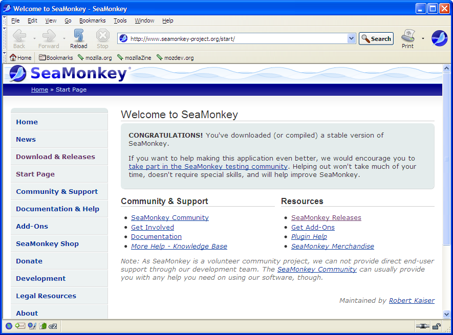 SeaMonkey for Linux