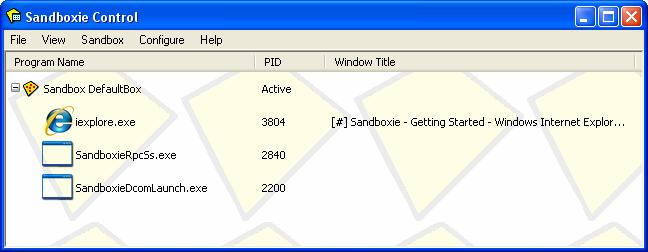 Sandboxie (Beta)