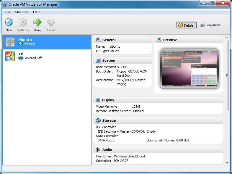 VirtualBox for Mac OS X