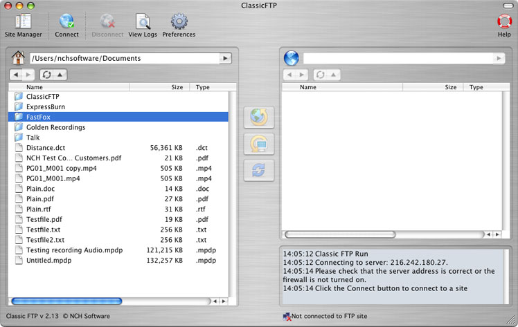 Classic FTP for Mac OS X