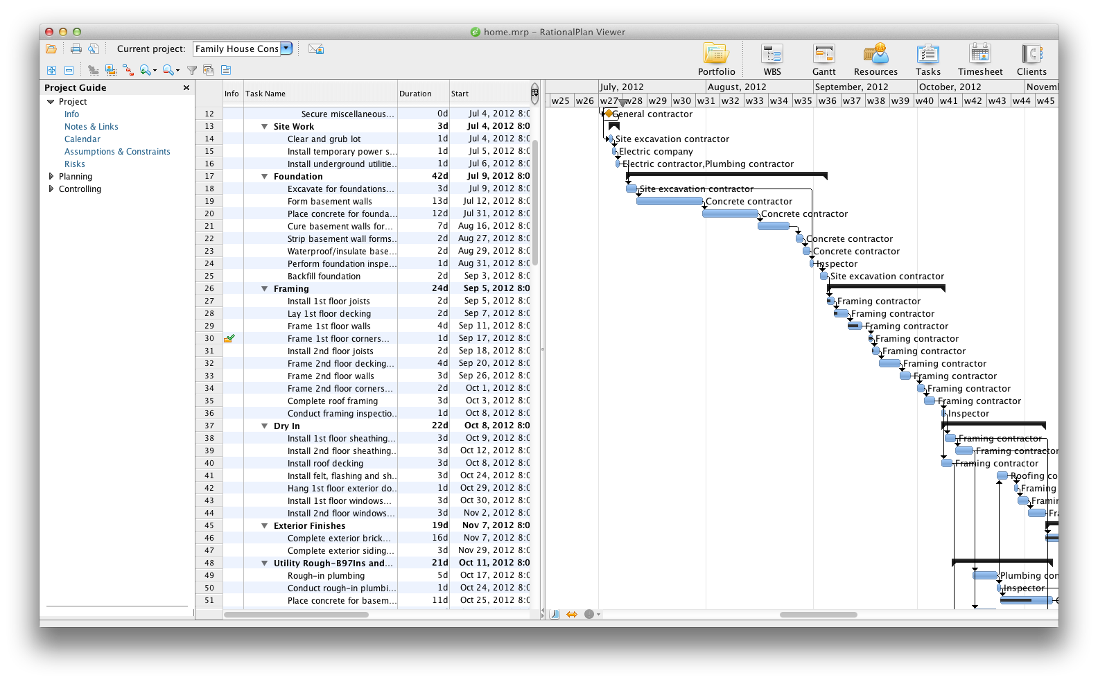 RationalPlan Project Viewer for Mac