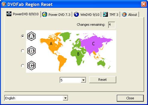 DVDFab Region Reset