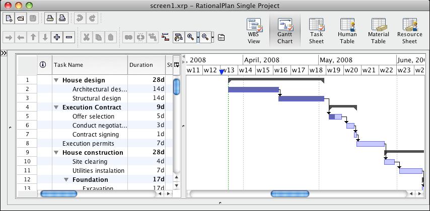 RationalPlan Single Project