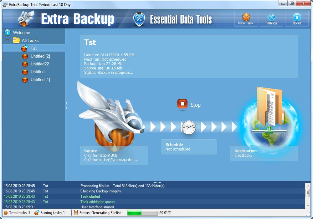 ExtraBackup