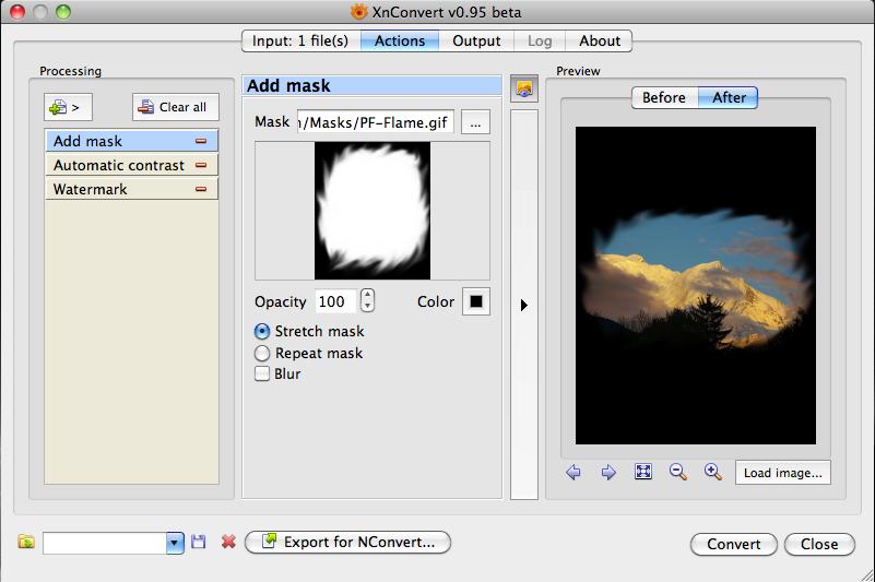 XnConvert for Mac OS X